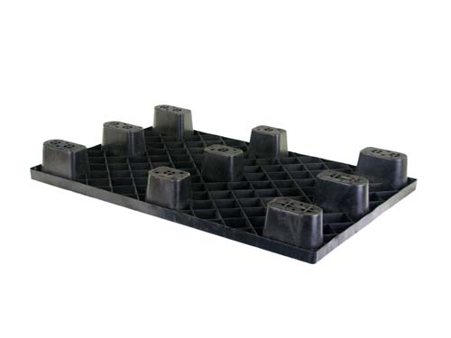 Bottom of the LogisticX 12-8 lightweight plastic pallet.