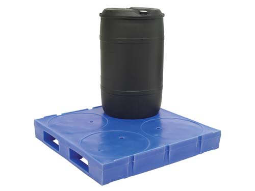 XIN The 11-11 Drum plastic pallet is designed to hold 4 200 litre steel or plastic drums.