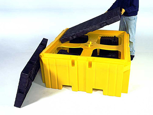 XIN Ultra-IBC Spill Pallet Plus with Drain - Inside