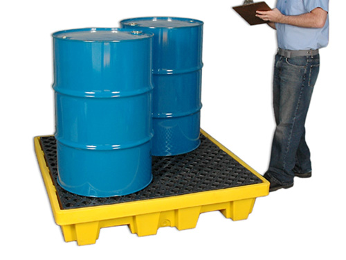 Ultra-Spill Pallet P4 Nestable with Drain