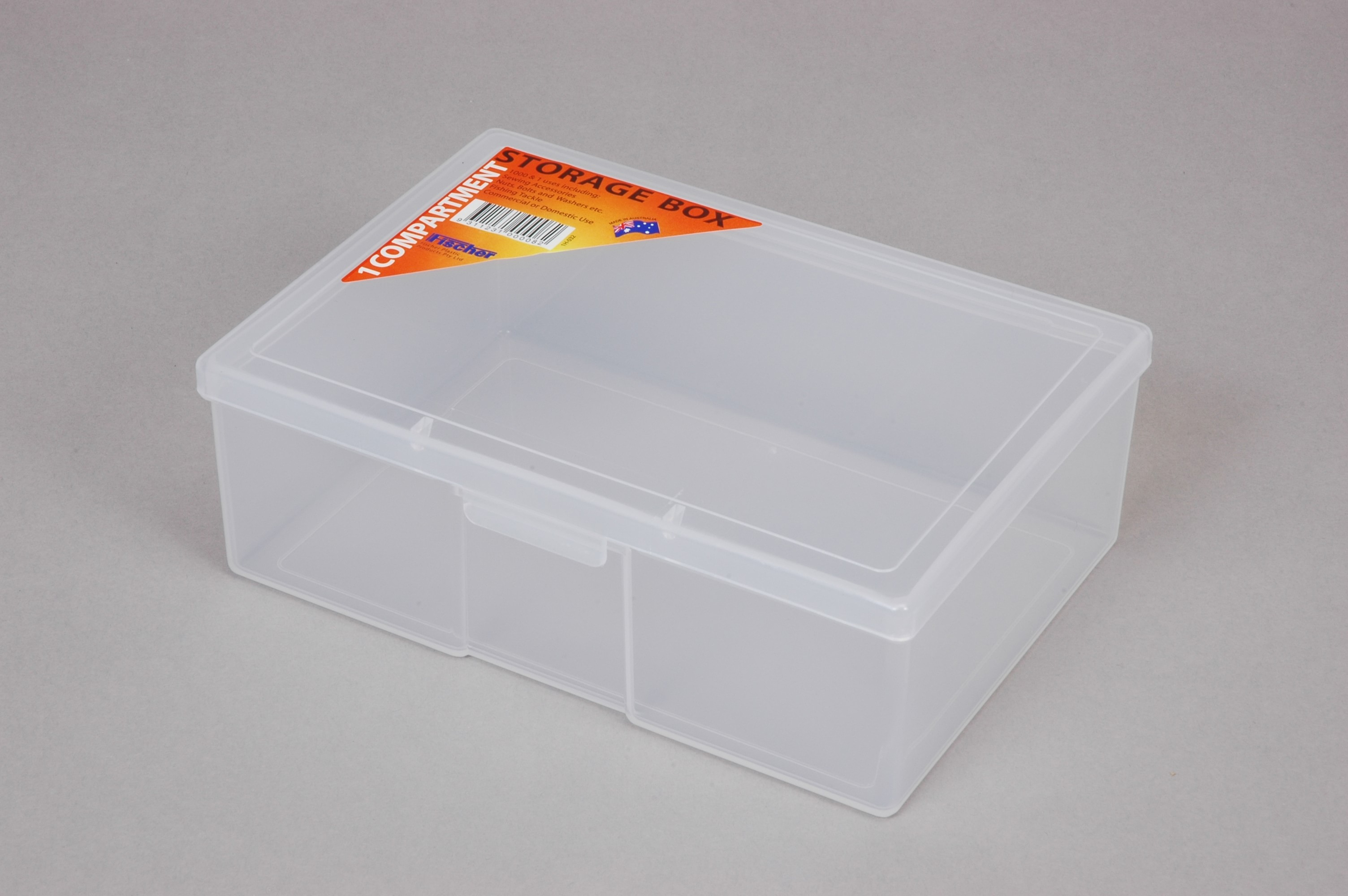 ACCESSORY BOX 1 COMP MED DEEP CLEAR (2145)