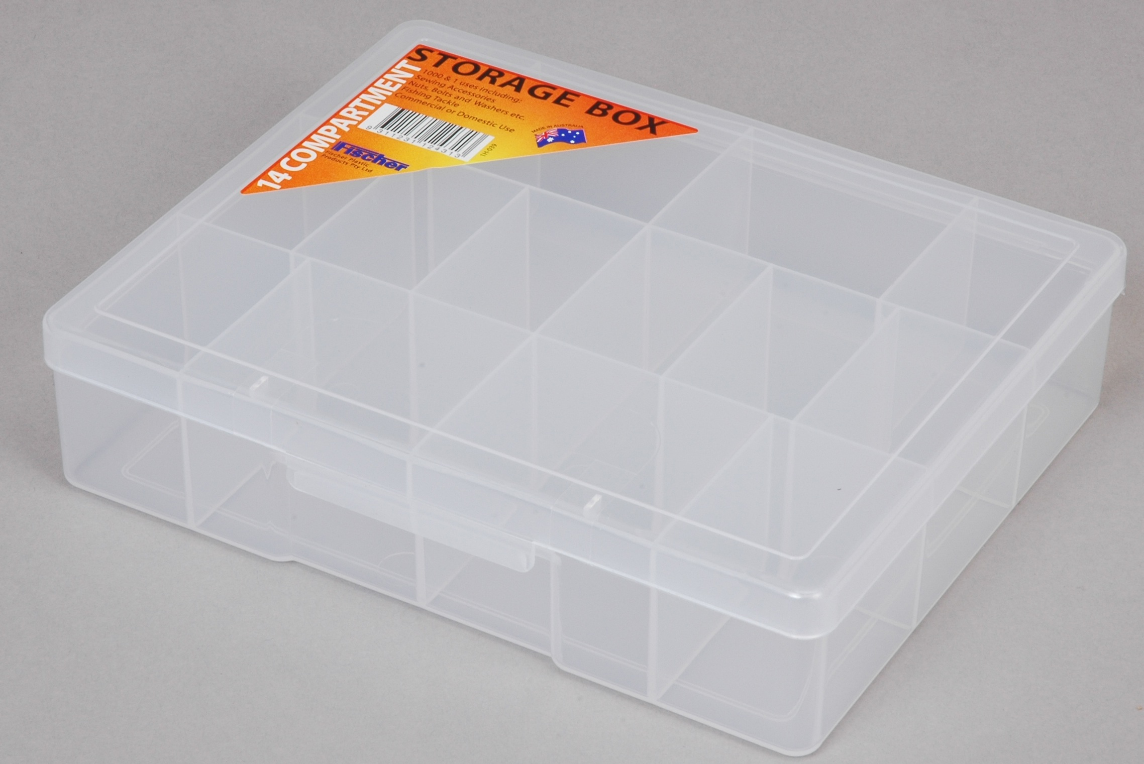 ACCESSORY BOX 14 COMP MED CLEAR (2160)
