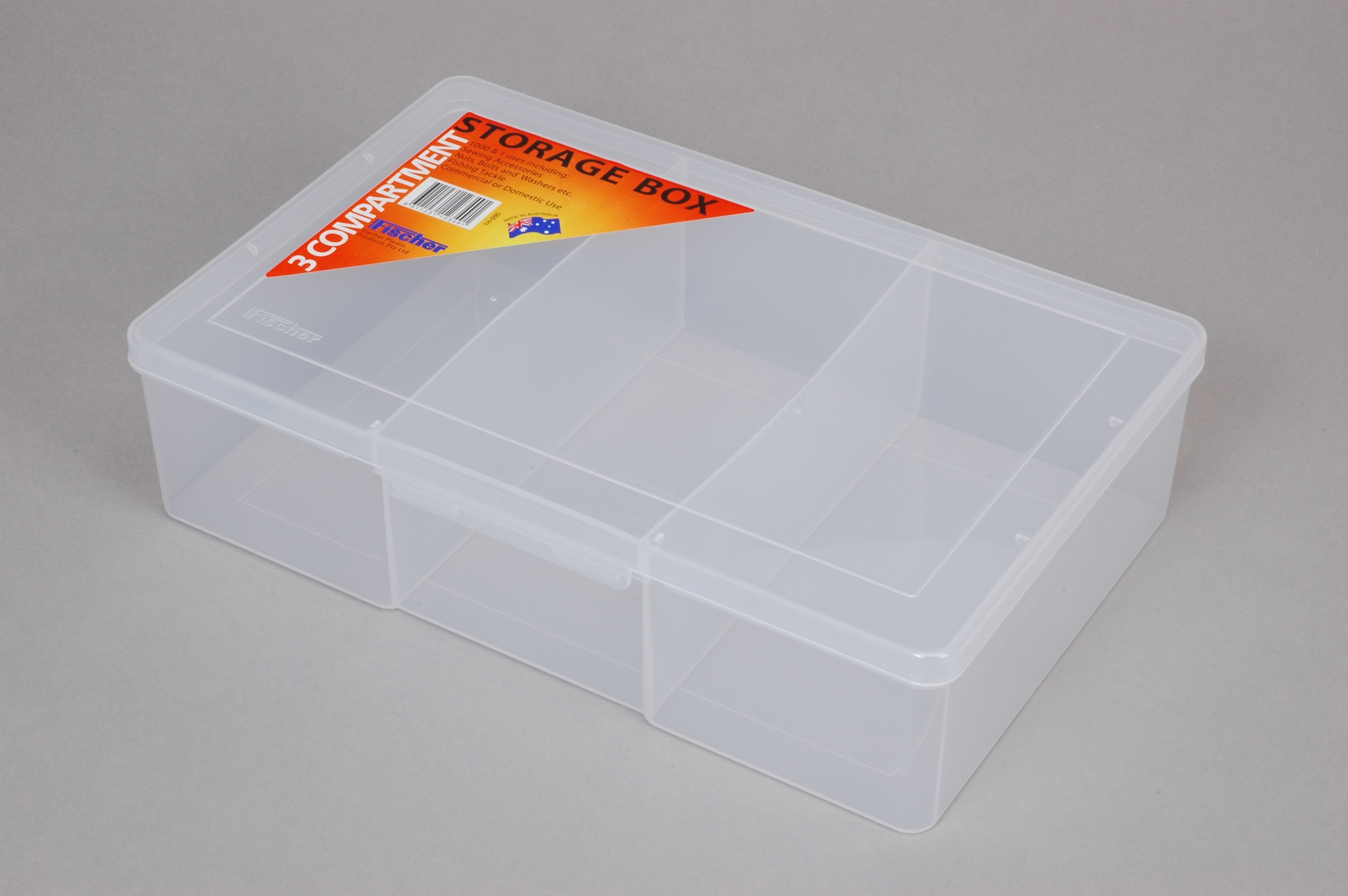 3 Compartment - Large Deep Storage Box