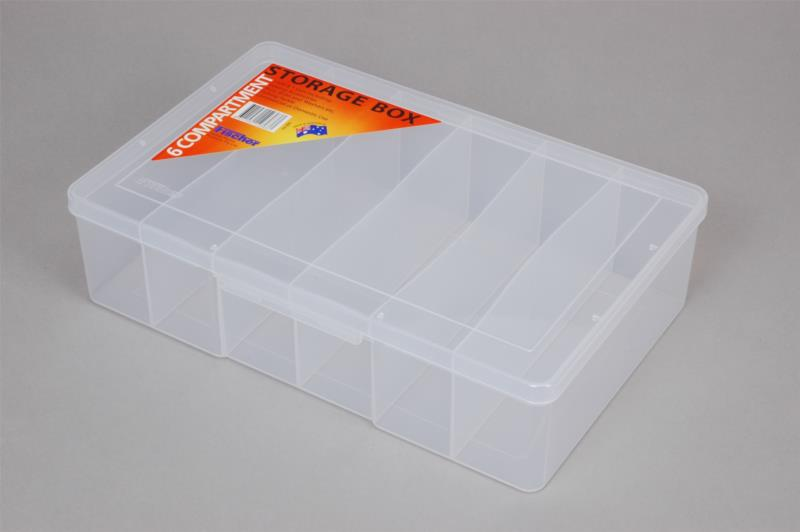 6 compartment - Large Deep Storage Box