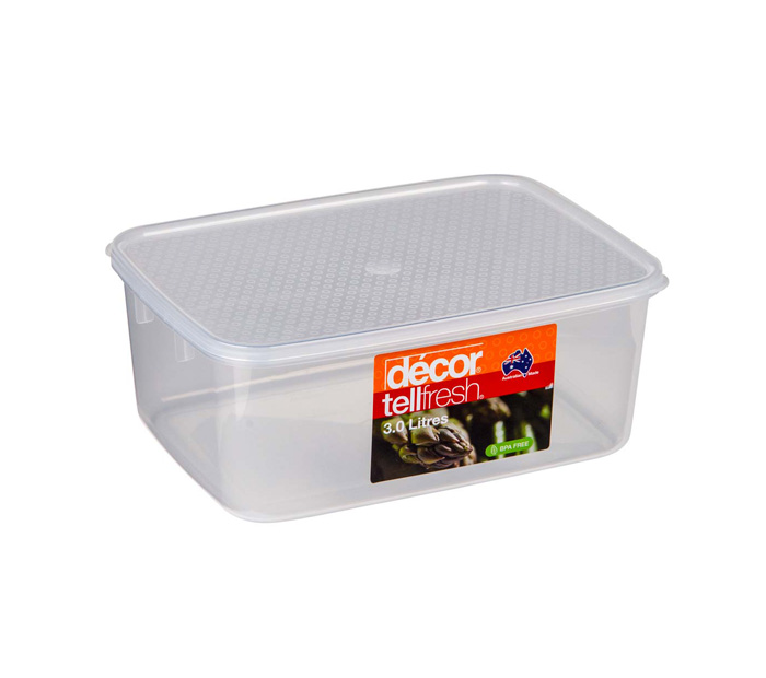 TELLFRESH FOOD CONTAINER 3L CLEAR (1892)
