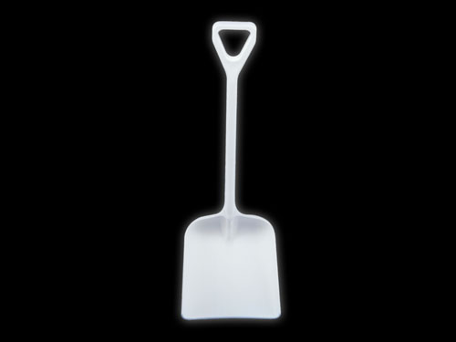 H70 D-HANDLE ONE PIECE SHOVEL WHITE (7866)