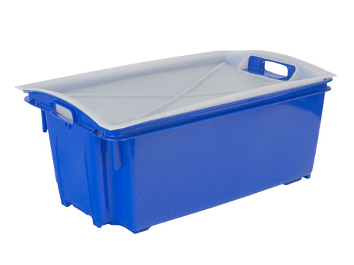 AP12 Fish Crate with Holes 55L with 1241PL Lid