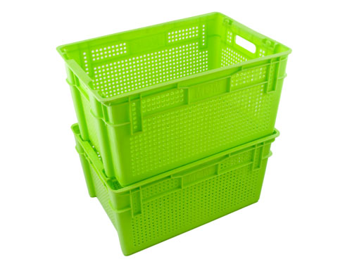 LogisticX Vented Crate 63L - Stacking