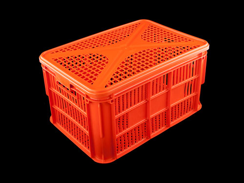 Lid Vented HDPE on Ventilated Draining Crate 66L
