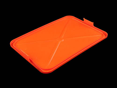 Lid Solid HDPE for Ventilated Draining Crate 66L