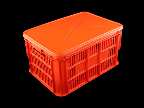 Lid Solid HDPE on Ventilated Draining Crate 66L