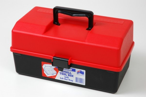 SMALL TOOL BOX 1H-124 RED/BK (2257)