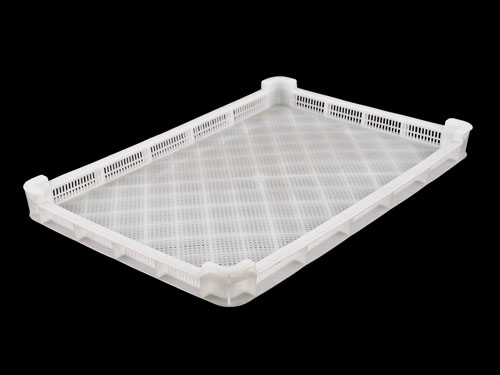 LOGX VENTED CONFECTIONERY TRAY 8L WHT (1567)