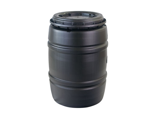 DRUM,SCR TOP,RGND;200L,BLK/GRY LID (4281)