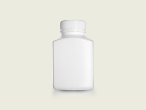 XIN Rectangular Tablet Bottle (40mm) 275ml with 5762 Cap.
