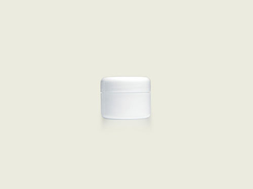 COSMETIC POT 15ML BASE ONLY WHITE (5741)