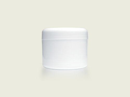COSMETIC POT 125ML BASE ONLY WHITE (5744)