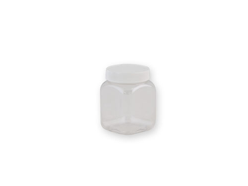 Square PET Jar (53mm) 190ml with 6276 Lid.