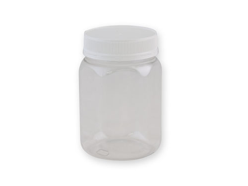 Hexagonal PET Jar (83mm) 750ml with 6372 Lid.