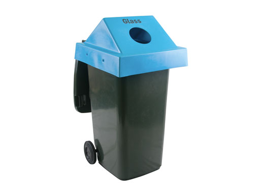 Example of the 'Glass' lid on the Mobile Garbage Bin 240L