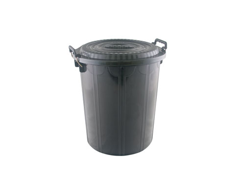 Supa Tuff Rubbish Bin with Lid 50L