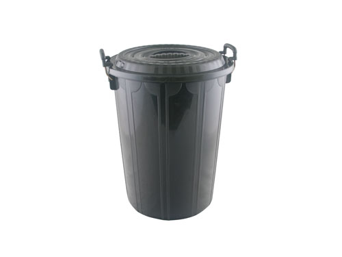 Supa Tuff Rubbish Bin with Lid 72L
